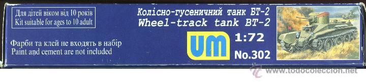 Maquetas: UNIMODEL, Wheel - track tank BT-2, Escala 1/72, REF 302 - Foto 8 - 49364652
