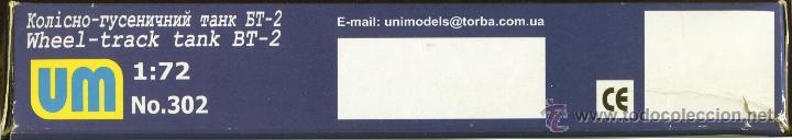 Maquetas: UNIMODEL, Wheel - track tank BT-2, Escala 1/72, REF 302 - Foto 9 - 49364652