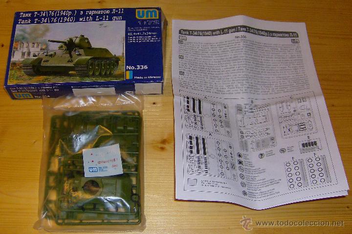 Maquetas: UNIMODEL Tank T-34\76 (1940) with L-11 gun, Escala 1/72, REF 336 - Foto 2 - 49365012