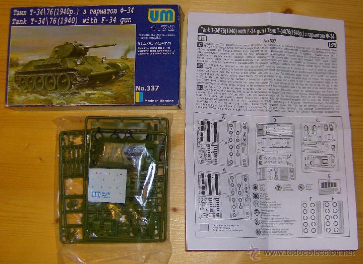 Maquetas: UNIMODEL, Tank T-34\76 (1940) with F-34 gun, Escala 1/72, REF 337 - Foto 2 - 49365464