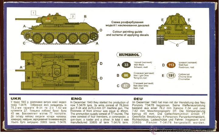 Maquetas: UNIMODEL, Tank T-34\76 (1940) with F-34 gun, Escala 1/72, REF 337 - Foto 6 - 49365464