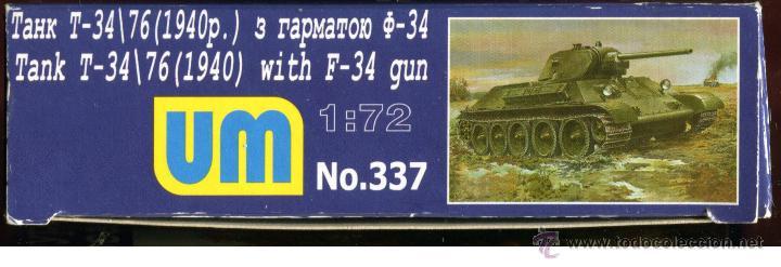 Maquetas: UNIMODEL, Tank T-34\76 (1940) with F-34 gun, Escala 1/72, REF 337 - Foto 7 - 49365464