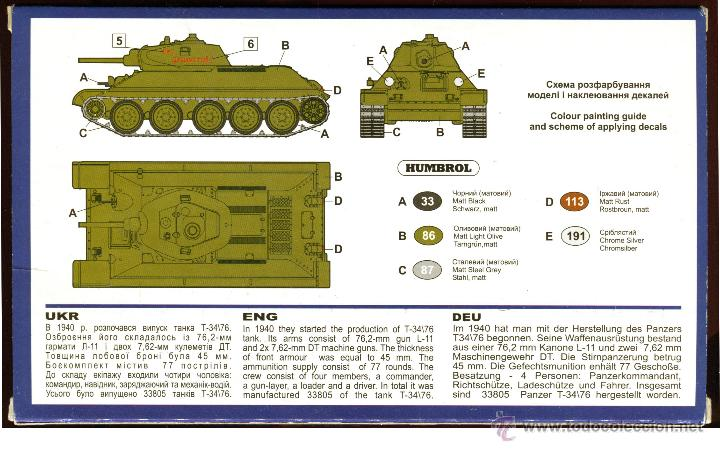 Maquetas: UNIMODEL Tank T-34\76 (1940) with L-11 gun, Escala 1/72, REF 336 - Foto 6 - 49365012