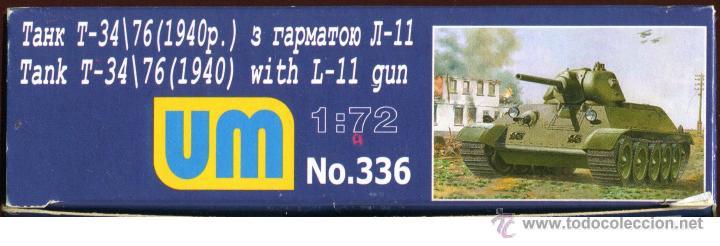 Maquetas: UNIMODEL Tank T-34\76 (1940) with L-11 gun, Escala 1/72, REF 336 - Foto 7 - 49365012