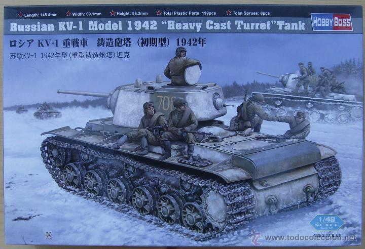 MAQUETA HOBBY BOSS, RUSSIAN KV-1 MODEL 1942 HEAVY CAST TURRET TANK, ESCALA 1/48, REF 84813 (Juguetes - Modelismo y Radiocontrol - Maquetas - Militar)