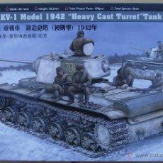 Maquetas: MAQUETA HOBBY BOSS, RUSSIAN KV-1 MODEL 1942 HEAVY CAST TURRET TANK, ESCALA 1/48, REF 84813. Lote 49204507