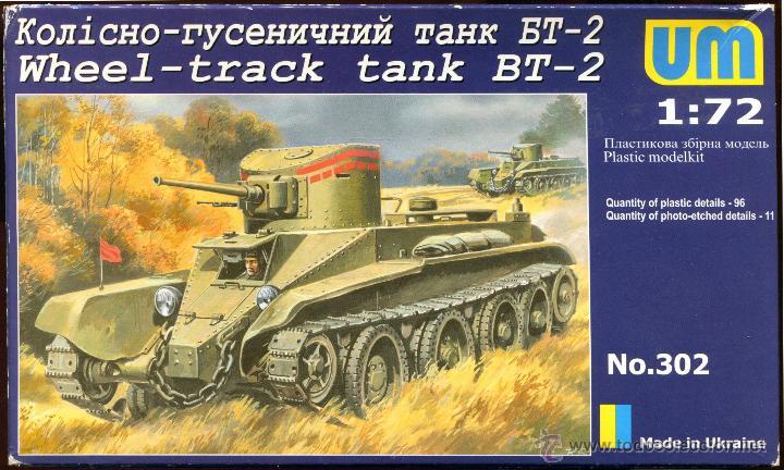 UNIMODEL, WHEEL - TRACK TANK BT-2, ESCALA 1/72, REF 302 (Juguetes - Modelismo y Radiocontrol - Maquetas - Militar)