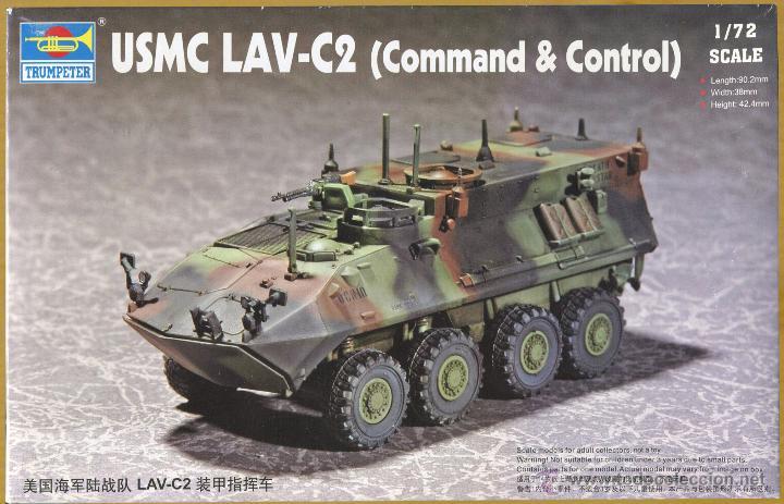 MAQUETA TRUMPETER, USMC LAV-C2 (COMMAND & CONTROL), ESCALA 1/72, REF 07270 (Juguetes - Modelismo y Radiocontrol - Maquetas - Militar)