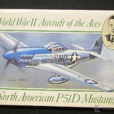 Maquetas: MAQUETA AVION NORTH AMERICAN P51D MUSTANG 1:72 AIRFIX 1989 WWII AIRCRAFT OF THE ACES. Lote 49717201