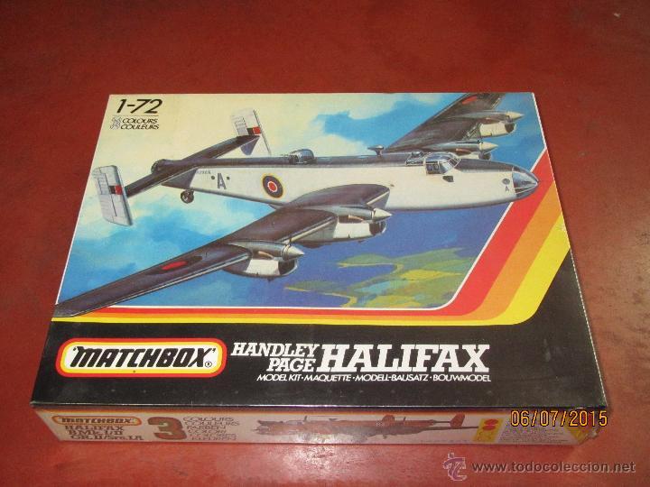 SUPER DESCATALOGADO AVIÓN HALIFAX MODELO EN KIT A ESCALA 1:72 DE MATCHBOX- AÑO 1996 (Juguetes - Modelismo y Radiocontrol - Maquetas - Coches y Motos)
