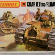 Maquetas: MATCHOBOX MODEL-KIT ESCALA 1/76 CARROS BLINDADOS CHAR B.1 BIS / RENAULT FT.17. Lote 51090922