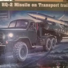Maquetas: TRUMPETER - HQ-2 MISSILE ON TRANSPORT TRAILER REF 205 1/35. Lote 51135524