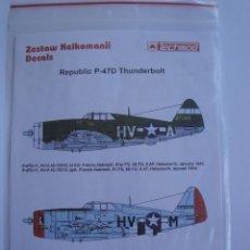 Maquetas: CALCAS REPUBLIC P-47D THUNDERBOLT TECHMOD 1/48 . Lote 51530858