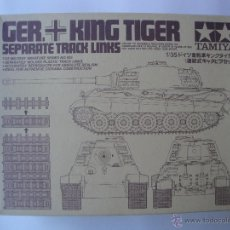 Maquetas: GERMAN KING TIGER SEPARATE TRACKS DE TAMIYA 1/35 . Lote 51531648
