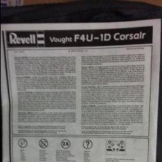 Maquetas: INSTRUCCIONES DE MONTAJE VOUGHT F-4U 1D CORSAIR, REVELL 1/48. Lote 51954352