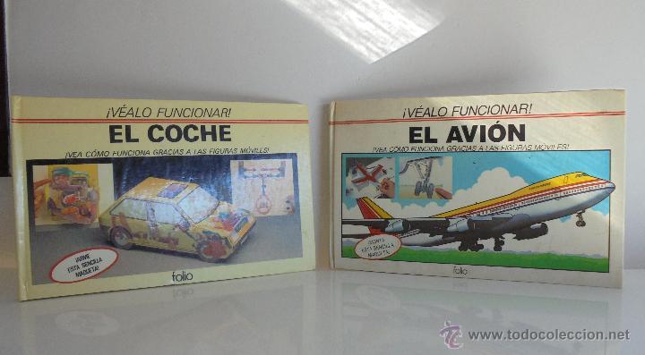 VÉALO FUNCIONAR EL COCHE. VÉALO FUNCIONAR EL AVIÓN. INCLUYE MAQUETA. EDITA FOLIO 1984-85. (Juguetes - Modelismo y Radiocontrol - Maquetas - Otras Maquetas)