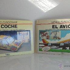 Maquetas: VÉALO FUNCIONAR EL COCHE. VÉALO FUNCIONAR EL AVIÓN. INCLUYE MAQUETA. EDITA FOLIO 1984-85.. Lote 52711137