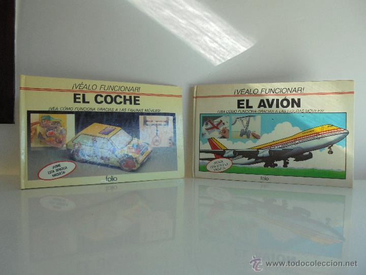 Maquetas: VÉALO FUNCIONAR EL COCHE. VÉALO FUNCIONAR EL AVIÓN. INCLUYE MAQUETA. EDITA FOLIO 1984-85. - Foto 2 - 52711137