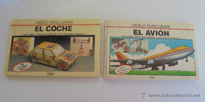 Maquetas: VÉALO FUNCIONAR EL COCHE. VÉALO FUNCIONAR EL AVIÓN. INCLUYE MAQUETA. EDITA FOLIO 1984-85. - Foto 3 - 52711137