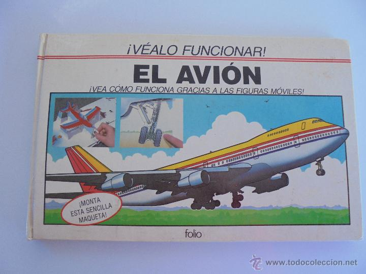 Maquetas: VÉALO FUNCIONAR EL COCHE. VÉALO FUNCIONAR EL AVIÓN. INCLUYE MAQUETA. EDITA FOLIO 1984-85. - Foto 21 - 52711137