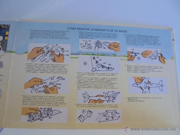 Maquetas: VÉALO FUNCIONAR EL COCHE. VÉALO FUNCIONAR EL AVIÓN. INCLUYE MAQUETA. EDITA FOLIO 1984-85. - Foto 39 - 52711137