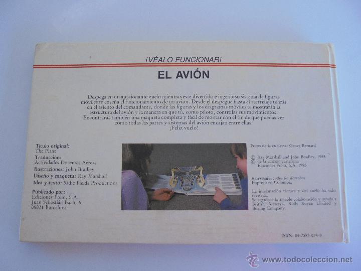 Maquetas: VÉALO FUNCIONAR EL COCHE. VÉALO FUNCIONAR EL AVIÓN. INCLUYE MAQUETA. EDITA FOLIO 1984-85. - Foto 40 - 52711137