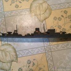 Maquetas - Antigua maqueta de submarino o acorazado de madera años 30-40 posiblemente segunda guerra mundial - 52754798