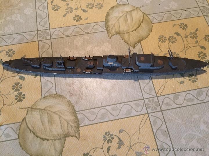 Maquetas: Antigua maqueta de submarino o acorazado de madera años 30-40 posiblemente segunda guerra mundial - Foto 2 - 52754798