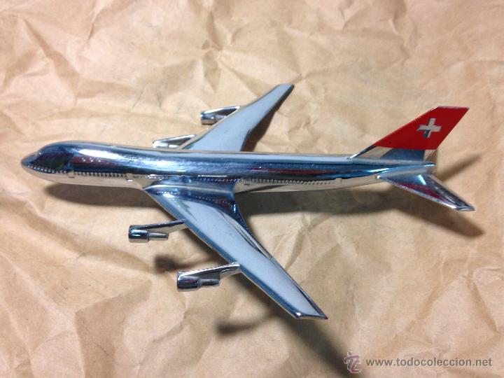 BOEING 747-257 SWISSAIR. MAQUETA DE LOS 70/80 (Juguetes - Modelismo y Radio Control - Maquetas - Aviones y Helicópteros)