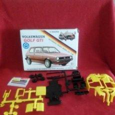 Maquetas: CAJA VOLKSWAGEN GOLF GTI. Lote 53265571