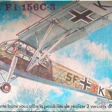 Maquetas: MAQUETA HELLER 1/72 FIESELER FI 156C-3 STORCH - 1976 #072. Lote 53699819
