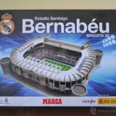 Maquetas: MAQUETA 3D ESTADIO SANTIAGO BERNABEU REAL. PRODUCTO OFICIAL REAL MADRID Y MARCA. Lote 86199086