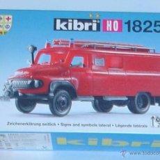 Maquetas: KIBRI REF. 18255. KIT CAMION DE BOMBEROS FORD FK 2500. ESCALA 1: 87. NUEVO.. Lote 53767077