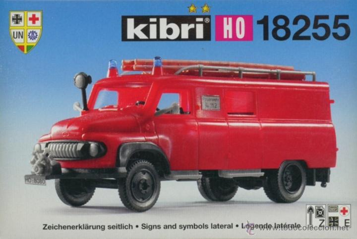 Maquetas: KIBRI REF. 18255. KIT CAMION DE BOMBEROS FORD FK 2500. ESCALA 1: 87. NUEVO. - Foto 4 - 53767077