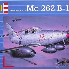 Maquetas: MAQUETA REVELL 1/72 MESSERSCHMITT ME 262B-1A/U-1 SCHWALBE - 1998 #04136. Lote 54615932