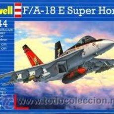 Maquetas: MAQUETA DEL CAZABOMBARDERO F/A-18E SUPER HORNET DE REVELL A ESCALA 1/144. Lote 54665470