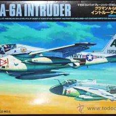 Maquetas: MAQUETA DEL AVIÓN DE ATAQUE NORTEAMERICANO GRUMMAN A-6A INTRUDER DE TAMIYA A 1/100. Lote 54775809