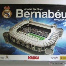 Maquetas: MAQUETA 3D ESTADIO SANTIAGO BERNABEU REAL MADRID PRODUCTO OFICIAL REAL MADRID MARCA .. Lote 107583279