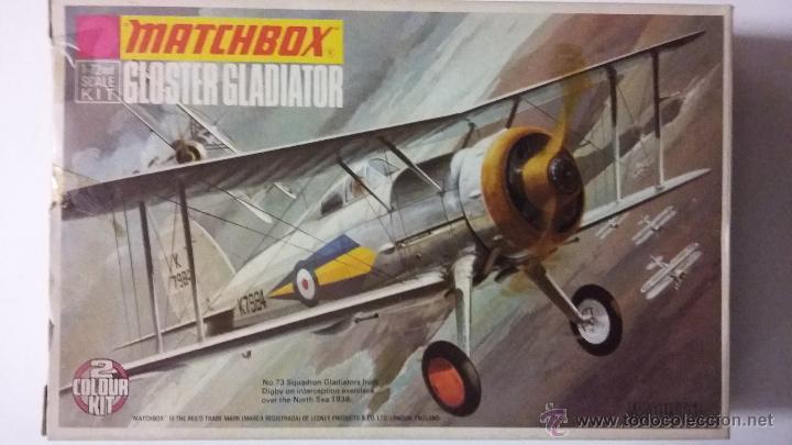 GLOSTER GLADIATOR. MATCHBOX 1/72 (Juguetes - Modelismo y Radio Control - Maquetas - Aviones y Helicópteros)