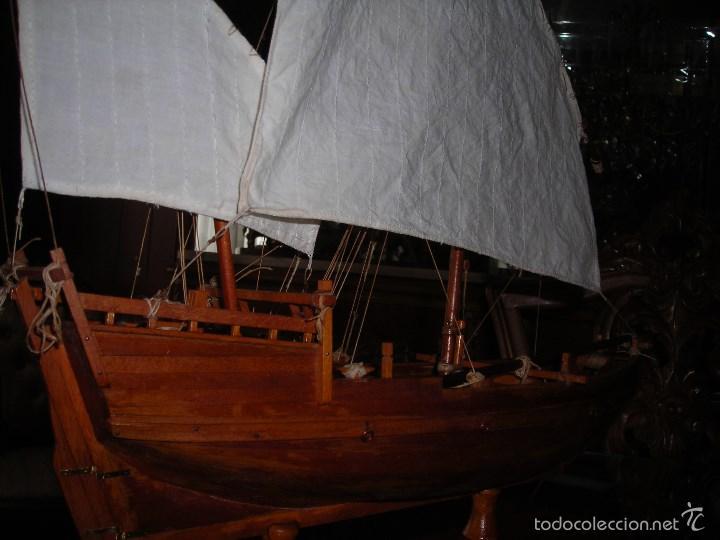 Maquetas: Preciosa maqueta de buque de vela tipo SAMBUCO árabe, (siglo XV). Conservado en urna de metacrilato. - Foto 4 - 55334577