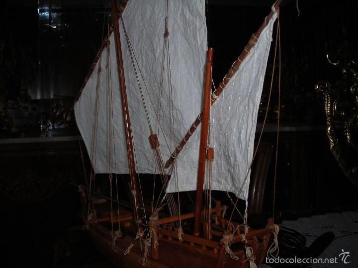 Maquetas: Preciosa maqueta de buque de vela tipo SAMBUCO árabe, (siglo XV). Conservado en urna de metacrilato. - Foto 5 - 55334577