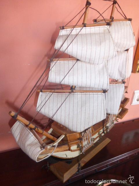 BARCO VELERO DE MADERA (Juguetes - Modelismo y Radiocontrol - Maquetas - Barcos)