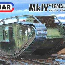 Maquetas: MAQUETA DEL CARRO DE COMBATE BRITÁNICO DE LA 1ª GUERRA MUNDIAL MK IV FEMALE DE EMHAR A 1/72. Lote 55888571