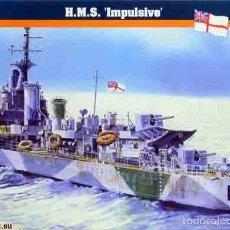 Maquetas: MAQUETA DEL DESTRUCTOR BRITÁNICO 2ª GUERRA MUNDIAL HMS IMPULSIVE (D11) A 1/500. Lote 120391290