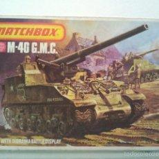 Maquetas: ANTIGUA MAQUETA DEL TANQUE M 40 GMC MATCHBOX ESC 1/76 2 COLORES 1978 LESNEY LONDON LOT .. Lote 56487279