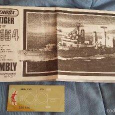 Maquetas: INSTRUCCIONES DE MONTAJE Y CALCAS DEL HMS TIGER. MATCHBOX 1/700. Lote 56592568