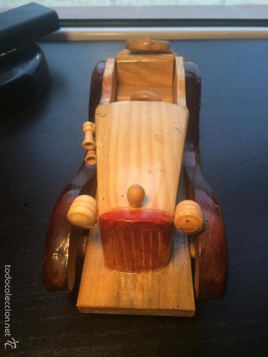 Maquetas: Antigua figura de coche hecha de madera . vintage. antiguo. decoración - Foto 2 - 56871618