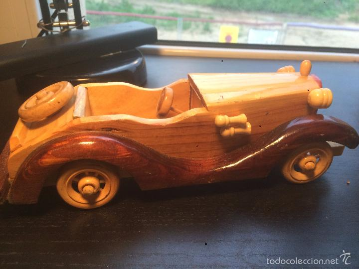 Maquetas: Antigua figura de coche hecha de madera . vintage. antiguo. decoración - Foto 3 - 56871618