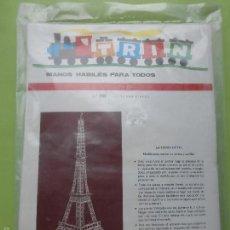 Maquetas: TRIN-MANOS HÁBILES PARA TODOS-Nº 70 TORRE EIFFEL-MAQUETA CON PALILLOS-AÑOS 70-ED. SALVATELLA.NUEVO. Lote 57179995