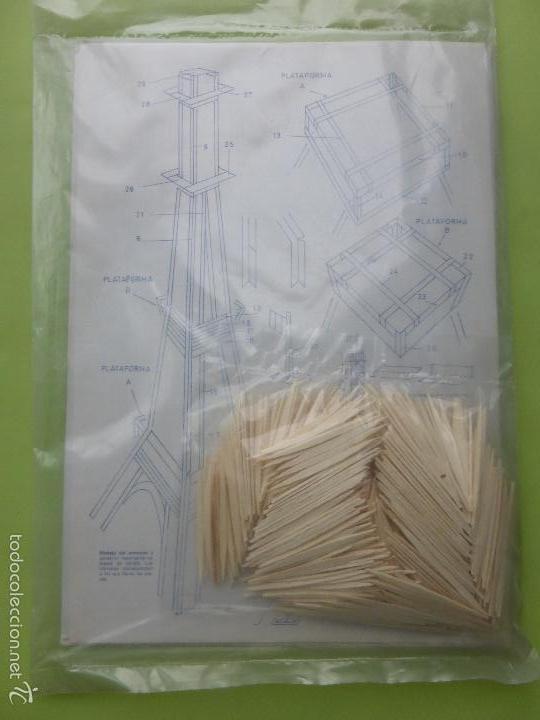 Maquetas: TRIN-MANOS HÁBILES PARA TODOS-Nº 70 TORRE EIFFEL-MAQUETA CON PALILLOS-AÑOS 70-ED. SALVATELLA-NUEVO- - Foto 2 - 238616400